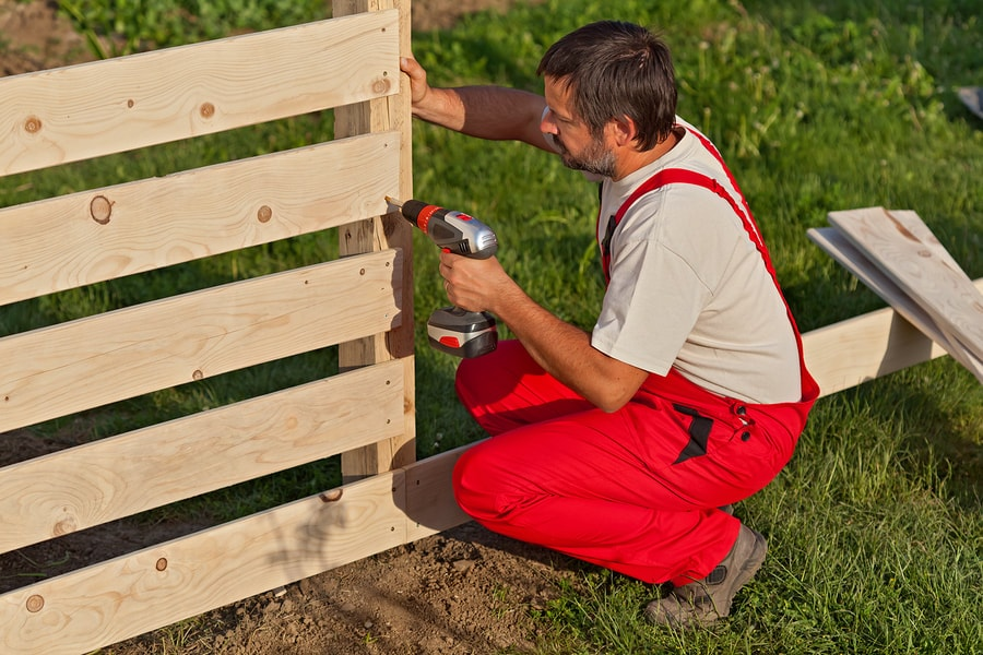 Garden Fence building by local Swansea carpenter